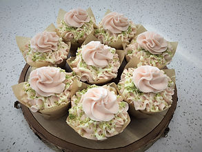 key lime raspberry cupcakes