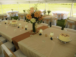 A gorgeous outdoor tent wedding