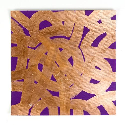 "Purple Maze - 12""x12"""