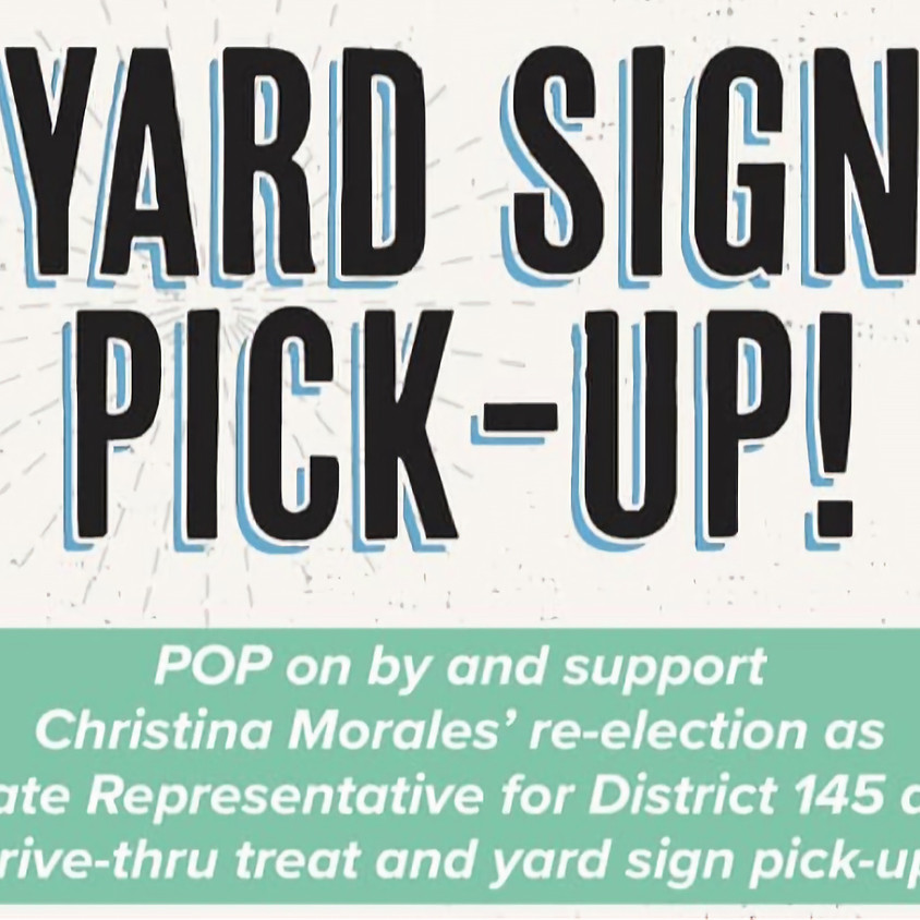 Pop-UP Yard Sign Give Away