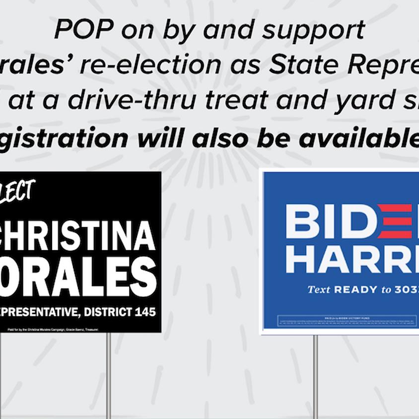 Yard Sign Pick-Up & Voter Registration