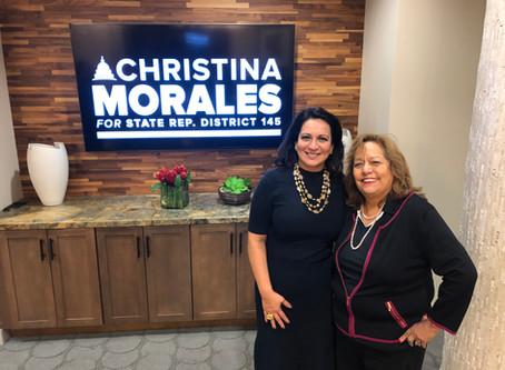 H.C.C. Trustee, Eva Loredo endorses Christina Morales