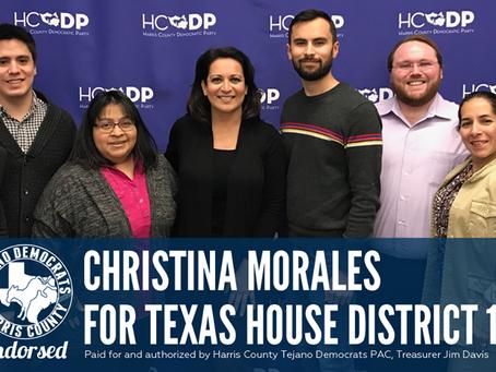 Harris County Tejano Democrats endorses Christina Morales
