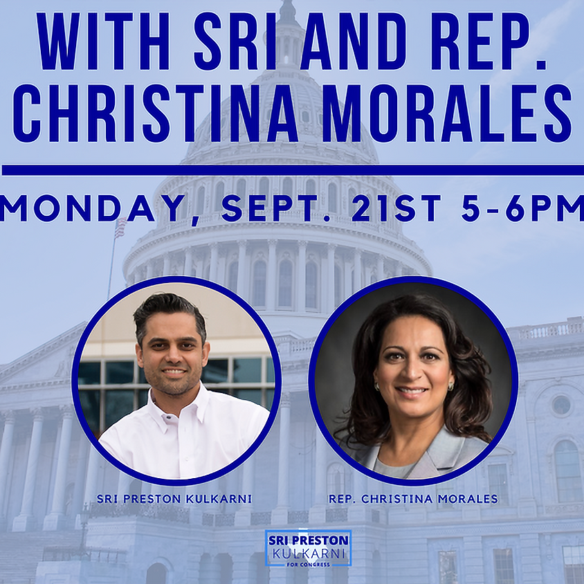 Meet and Greet with Sri and State Rep Christina Morales