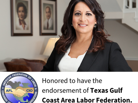 Texas Gulf Coast Area Labor Federation endorses Christina Morales