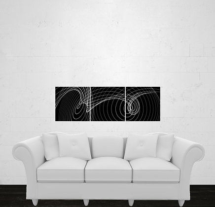 Three Prints. One Image Tiled or Three Images. Square. Horizontal Layout