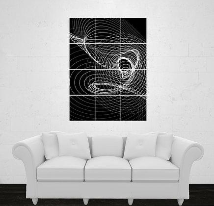 Twelve Prints. One Image Tiled or Twelve Images. Square. Vertical Layout.