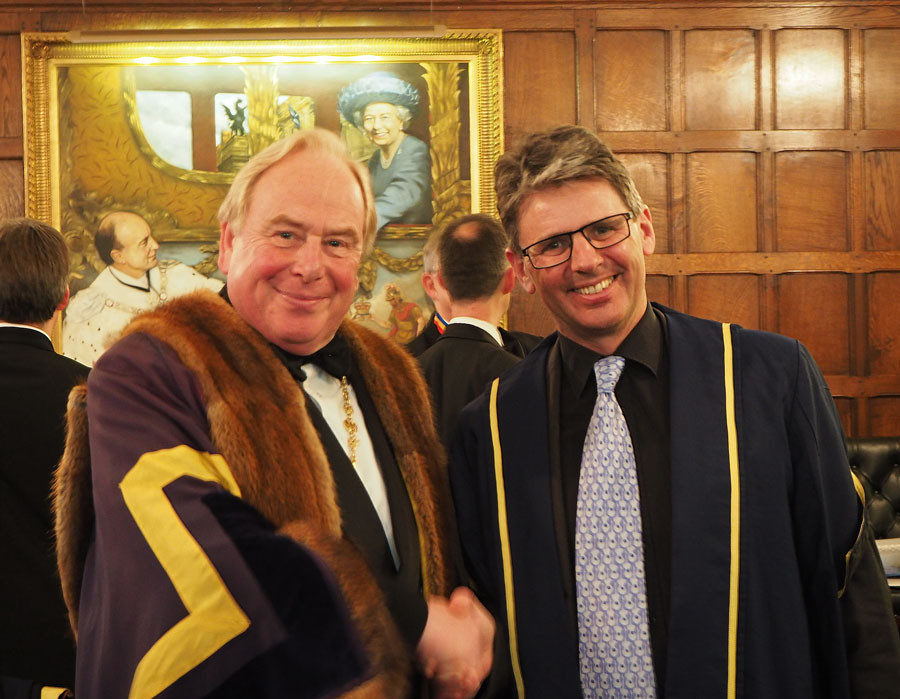 Dominic is welcomed as a Liveryman ceremony.