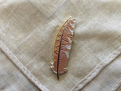 """Kookaburra Feather """"Remission"""" Enamel Badge"""