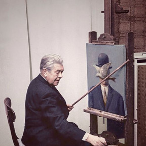 Magritte at work