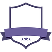 Blank Purple Badge