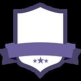 Placa púrpura en blanco