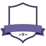 Blank Purple Badge