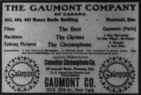 Pubblicità del Cronophone - 1910