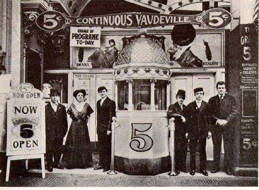 Un teatro di vaudeville di inizio XX secolo