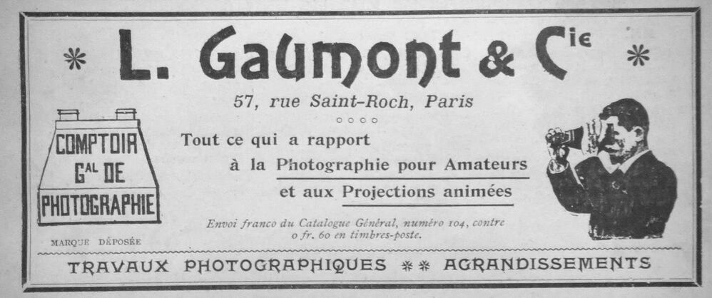 "Volantino pubblicitario ""L. Gaumont & Compagnie"""