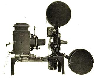 Proiettore collegato al cronophone