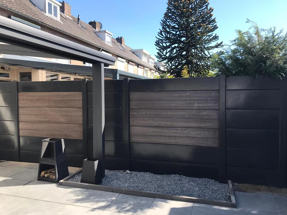 beton design antraciet hout look schutti