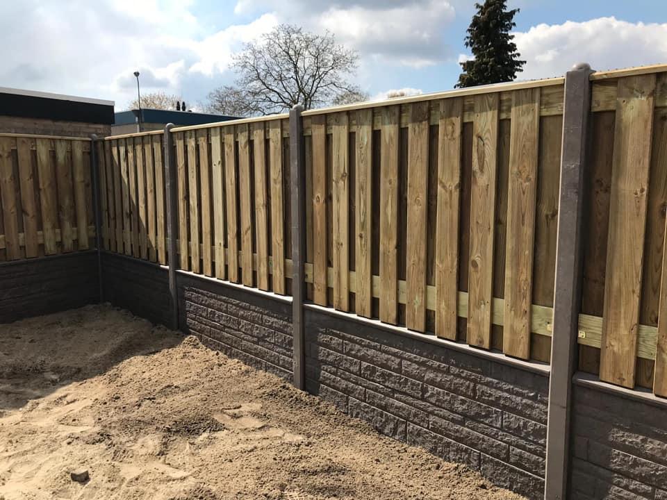 hout beton taupe schutting