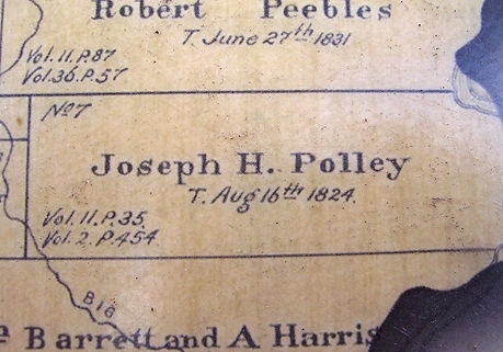 Joseph H Polley land grant map