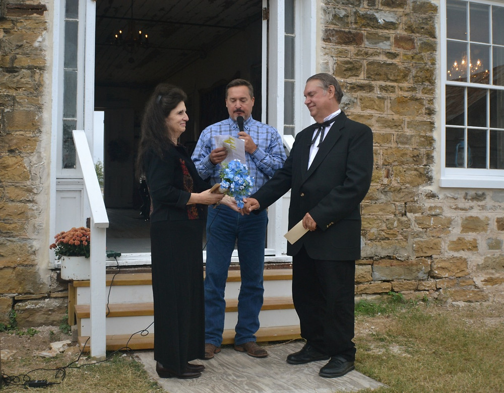 Vow Renewal Ceremony at the Polley Mansion