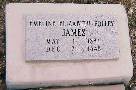 Emeline Elizabeth Polley James Headstone