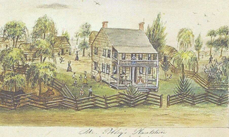 Painting of Polley Mansion (Whitehall) by Lillie Ann Hardinge