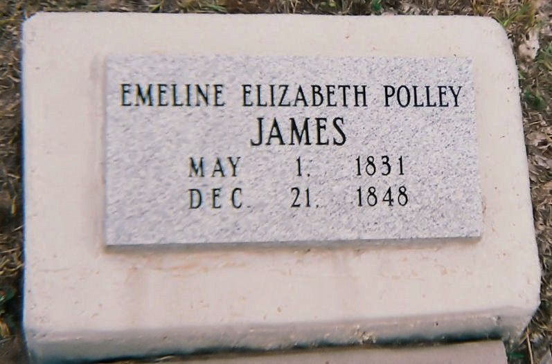Emeline Elizabeth Polley James Grave