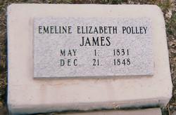 Emeline Elizabeth Polley James Grave