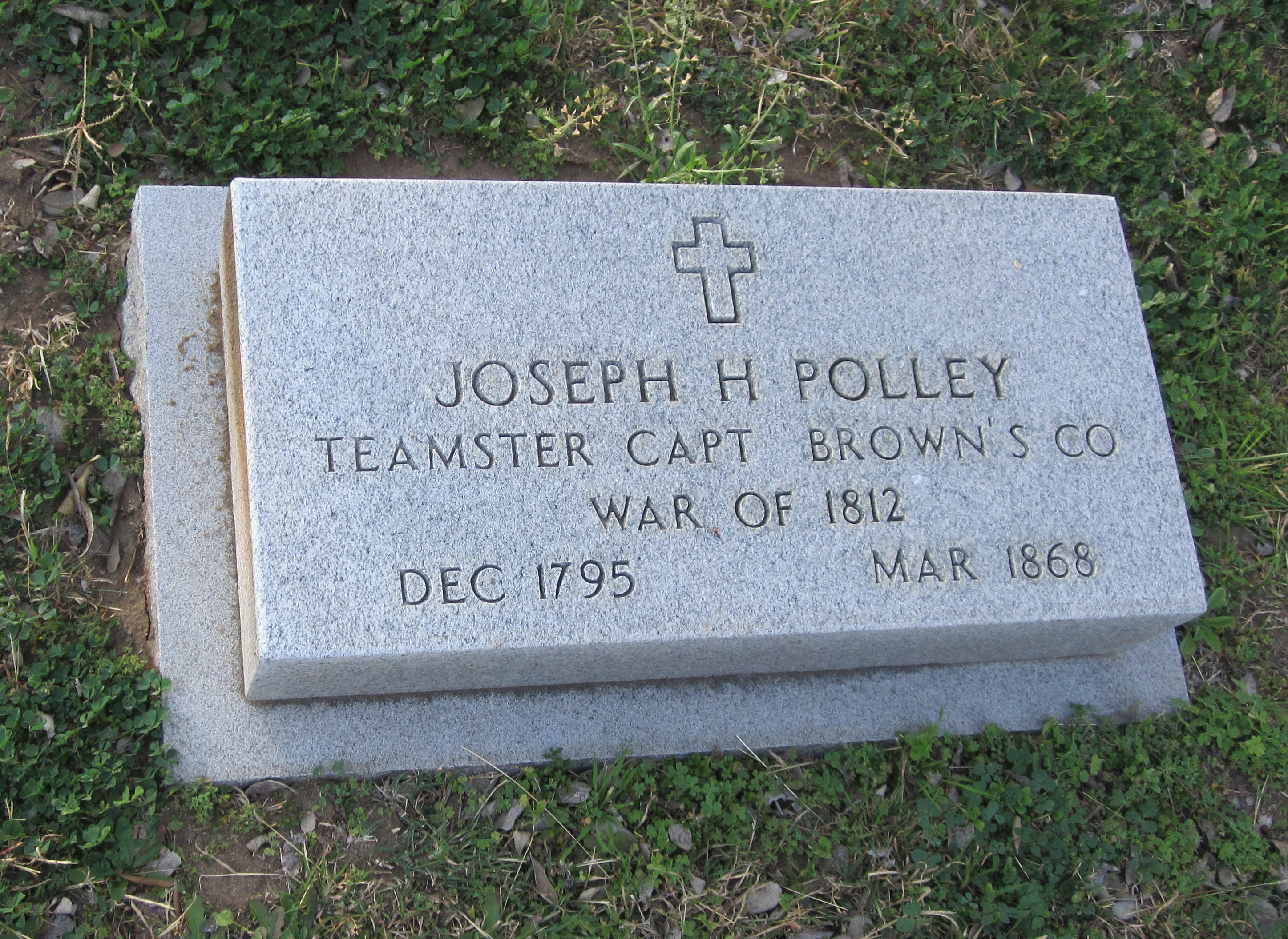 Joseph Henry Polley Grave Marker