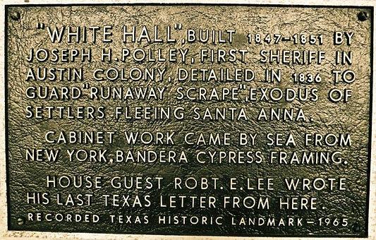 Whitehall Polley Mansion Historic Marker