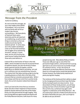 Polley Association Newsletter 2020 Corre