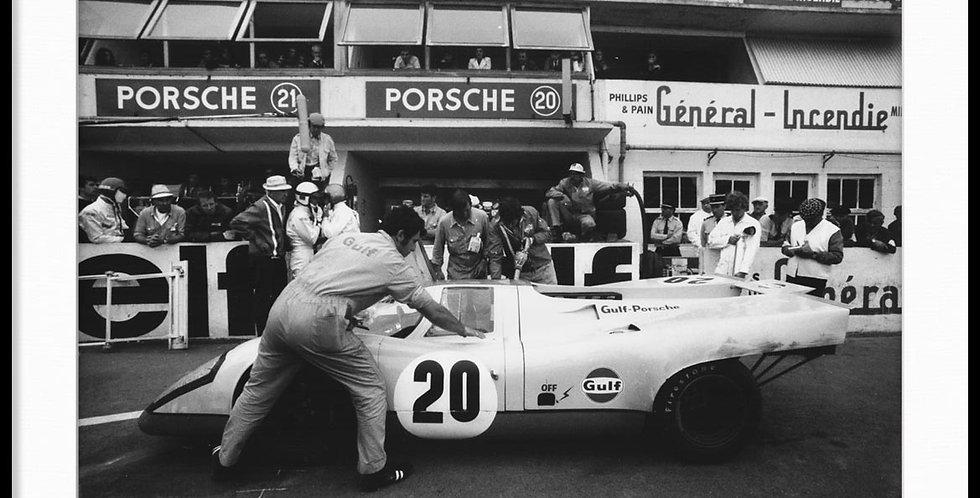 """Le Mans, Steve McQueen - Vintage Photo """"02"""""""