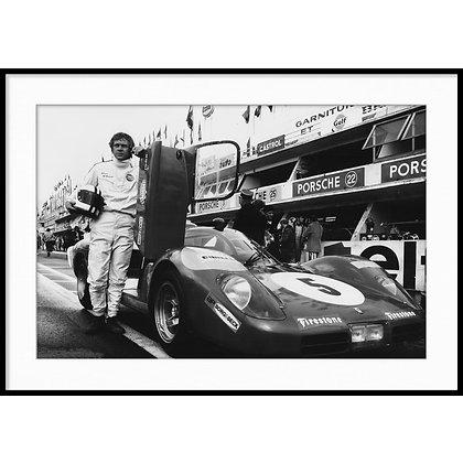 """Le Mans, Steve McQueen - Vintage Photo """"08"""""""