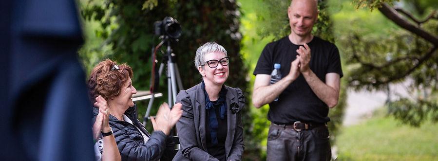 Die Veranstalterin der «Die urbane Geschichtenoase» Sibylle Baumann
