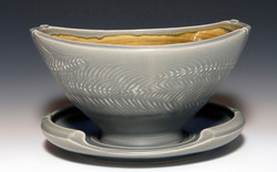 Serving Bowl with Saucer