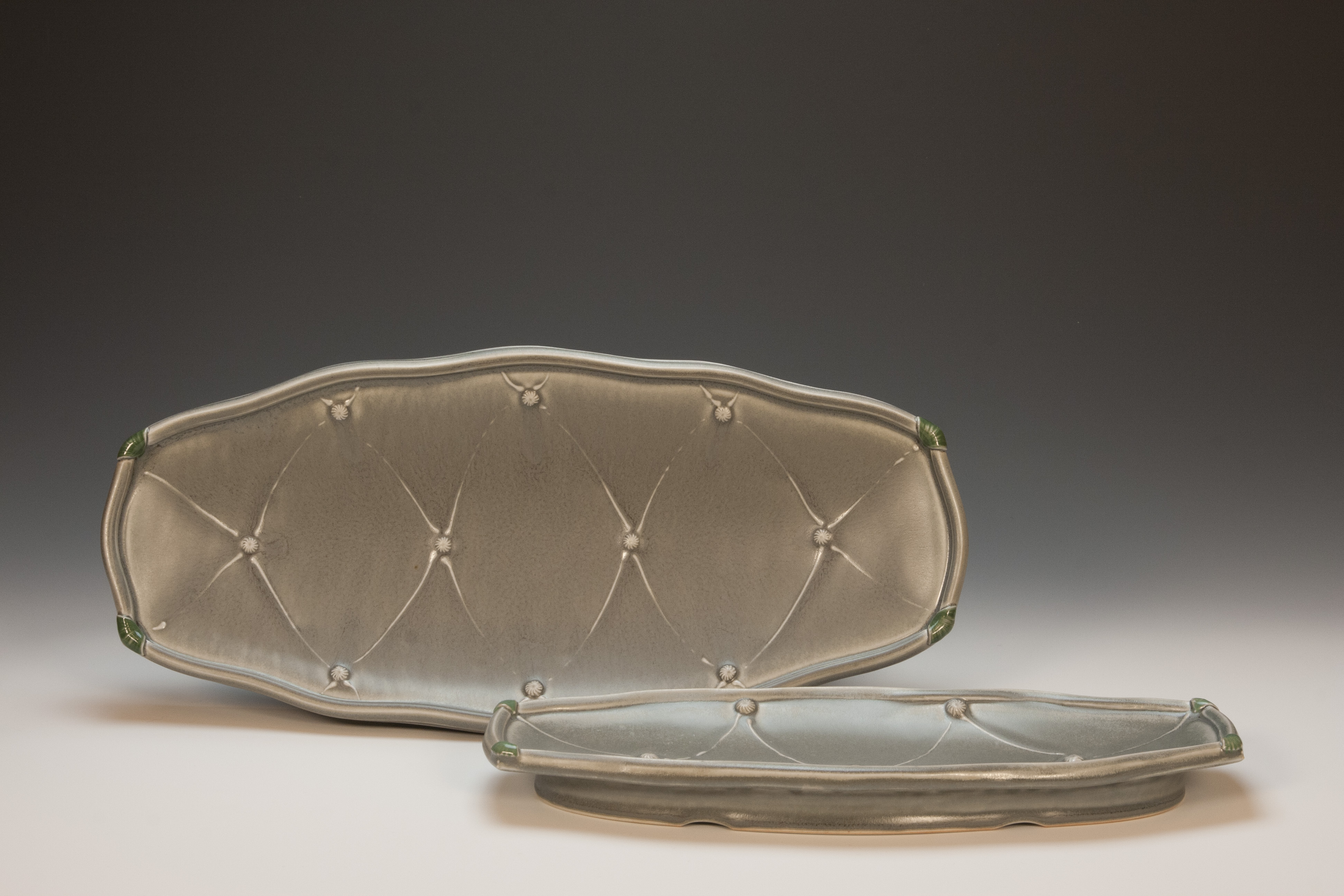 Pair of Wavy Trays