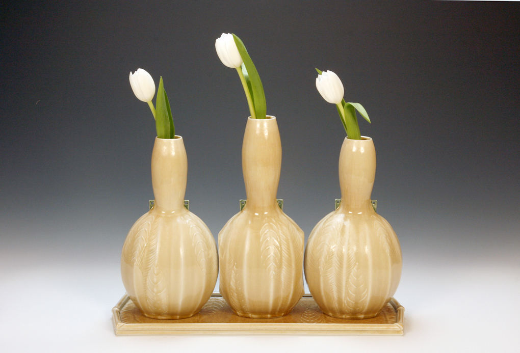 Trio of Nesting Vases