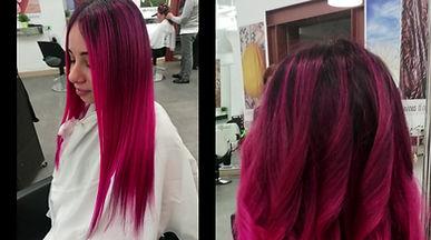 Colorazione naturale con tonalità pink