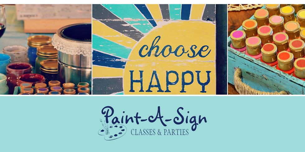Paint a Sign (Schriever)