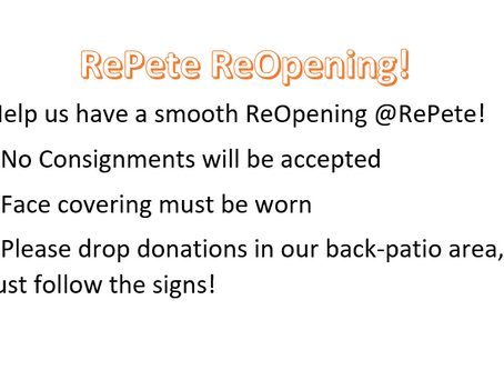 RePete ReOpening!!! May 20th!!!