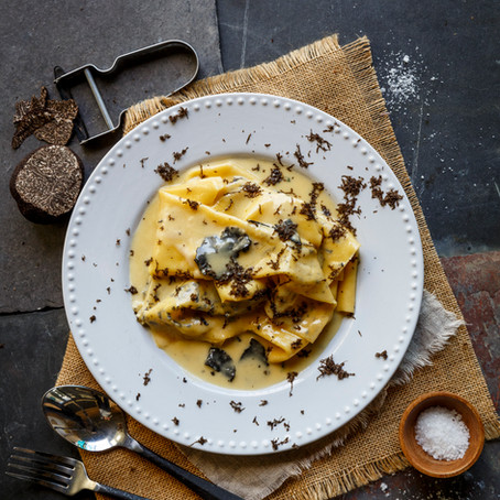 GENUINELY SOUTHERN FORESTS FAZZOLETTI (PASTA) WITH TRUFFLE BUTTER SAUCE