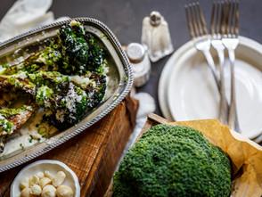 Roasted Broccoli With Macadamia, Saffron Sauce