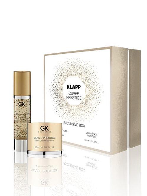 CUVEE PRESTIGE EXCLUSIVE BOX Luminous Serum Concentrate&24H Cream Mousse-50+50ml