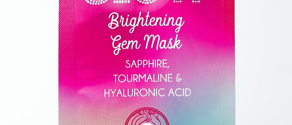 BRIGHTENING GEM MASK: SAPPHIRE. TOURMALINE, & HYALURONIC ACID