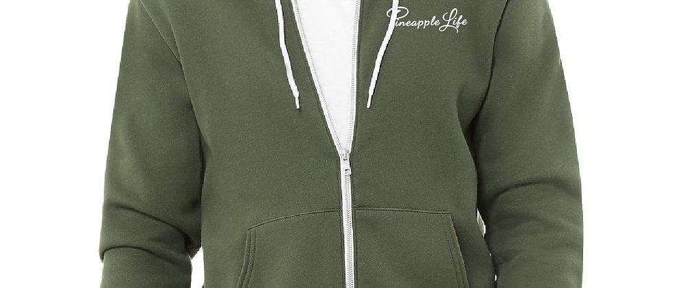 Green Pineapple Zip Up