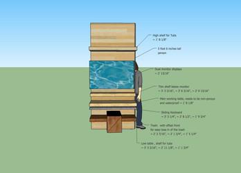 Workstation design in sketchup