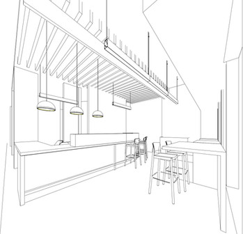 Working on 3D renderings of the welcome room