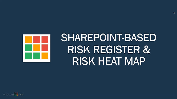 SharePoint based Risk Register and Risk Heat Map software