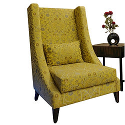 Kaath Accent Chair 003 High Back  Yellow